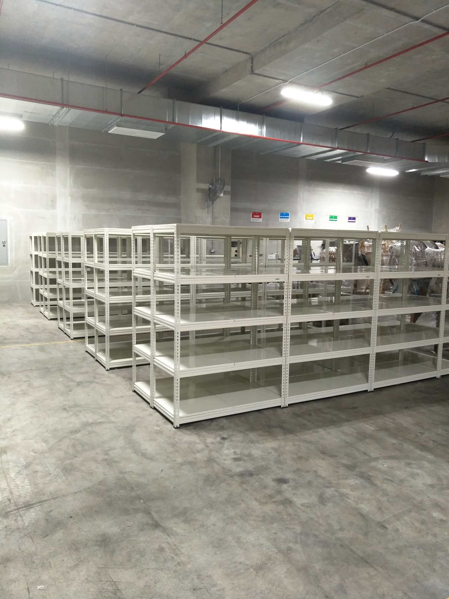 MYSTAR Boltless Shelving Projects installed within a few hours.